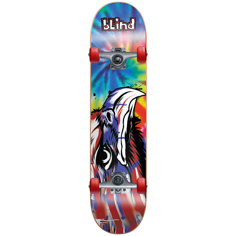 Blind Eagle Tag Complete Skateboard Tie Dye -with soft wheels- 7.75