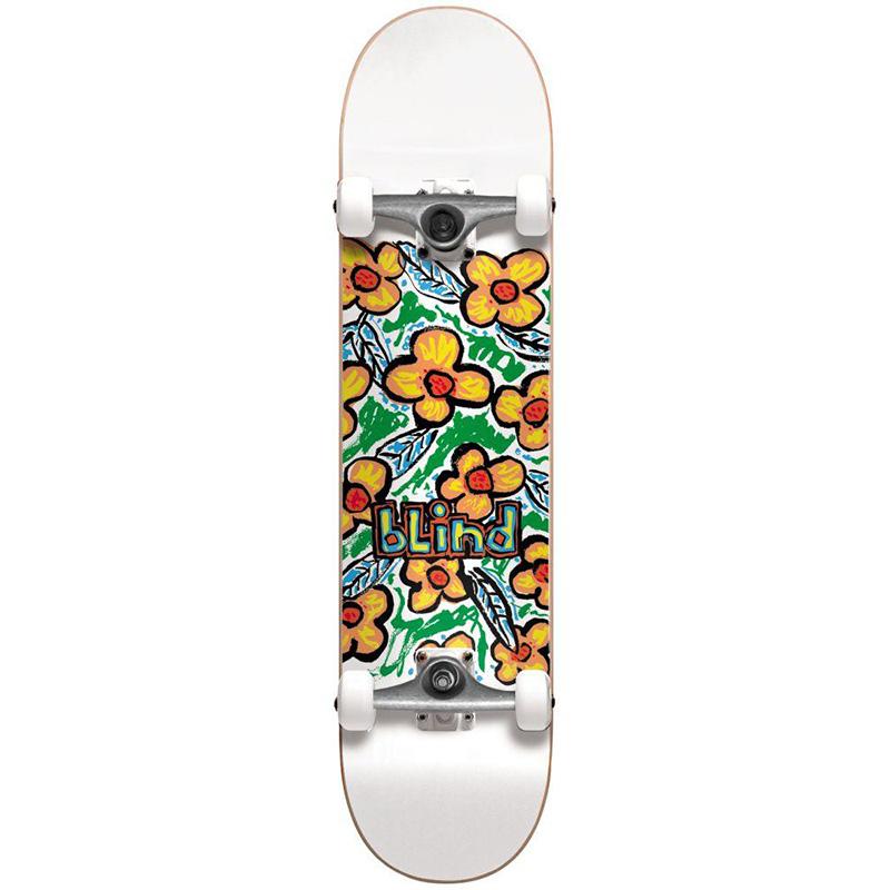 Blind Flowers FP Complete Skateboard White 7.625
