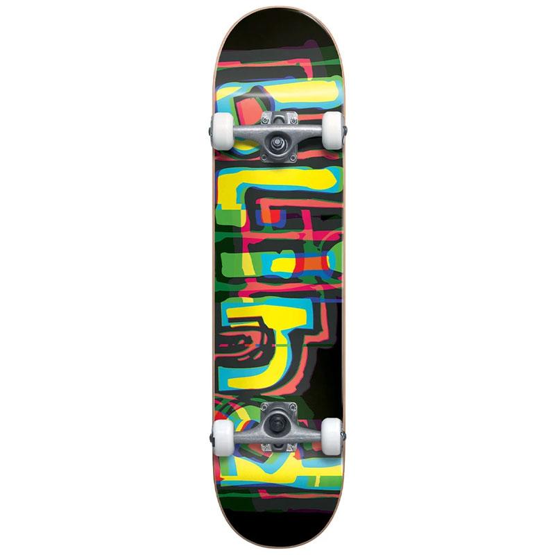 Blind Logo Glitch First Push Complete Skateboard Black 7.875