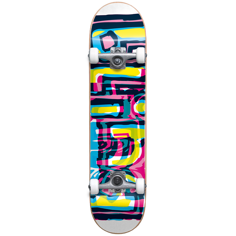 Blind Logo Glitch First Push Youth Complete Skateboard White 7.25