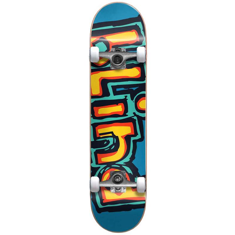 Blind Matte OG Logo First Push Complete Skateboard Bright Red/Teal 7.75