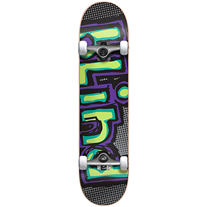 Blind Matte OG Logo FP Complete Skateboard Green/Purple 7.75