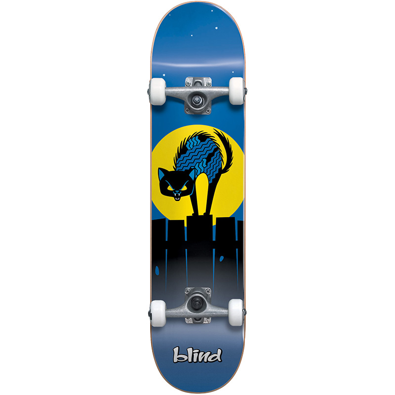 Blind Nine Lives Youth First Push Soft Top Complete Skateboard Blue 6.75