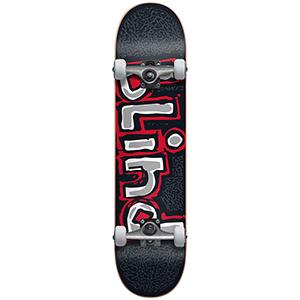 Blind OG Athletic Skin FP Premium Complete Skateboard Black/Red 8.0