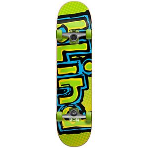 Blind OG Logo Fade FP Premium Complete Skateboard Green/Yellow 7.5