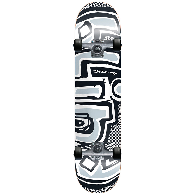 Blind OG Warped Black/White Complete Skateboard 7.625