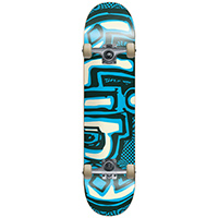 Blind OG Warped Green/Blue Complete Skateboard 7.25