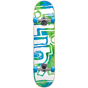 Blind Og Water Color FP Complete Skateboard Green/Blue 7.875