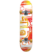 Blind OG Water Color Red/Yellow Complete Skateboard 7.875
