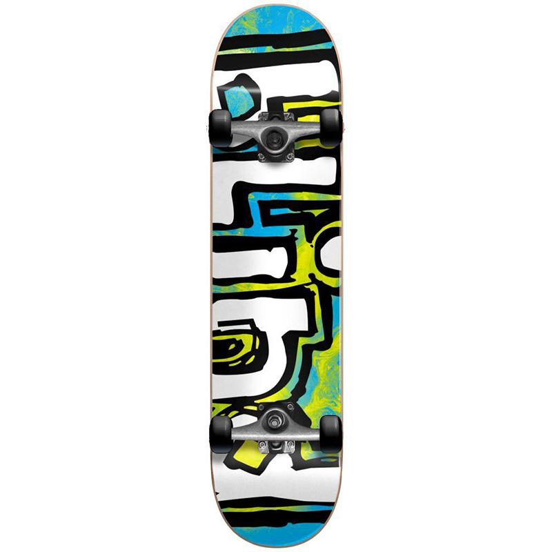 Blind OG Water Color Youth FP Complete Skateboard Blue/Yellow 7.0