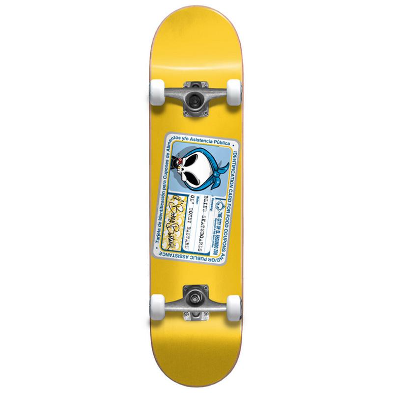 Blind Old Boney Bastard First Push Complete Skateboard Yellow 8.25