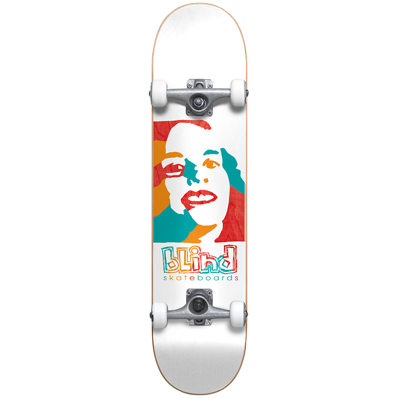 Blind Psychedelic Girl First Push Premium Complete Skateboard White 7.75