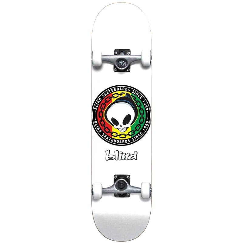 Blind Rasta Reaper First Push Complete Skateboard White 8.125