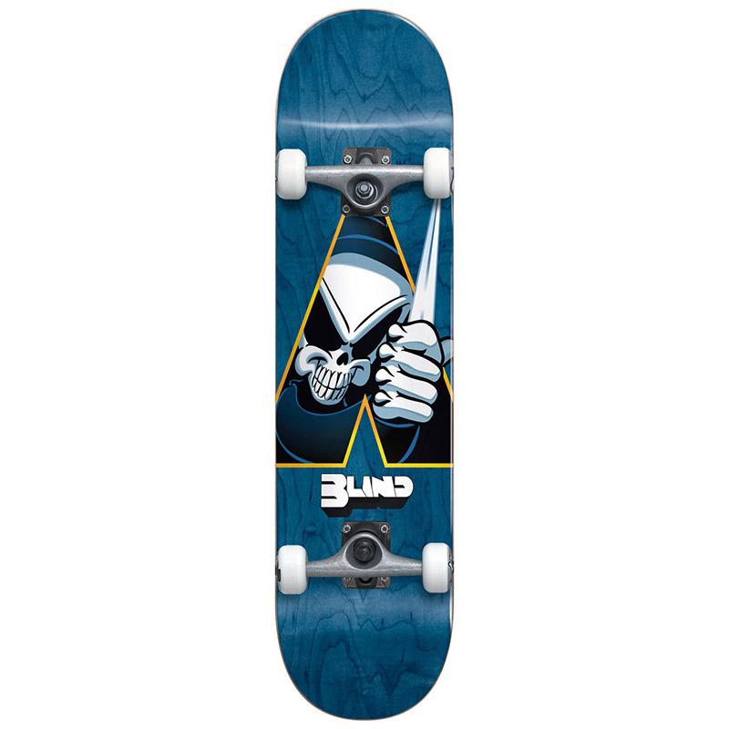 Blind Reaper Dagger First Push Premium Complete Skateboard Blue 7.75