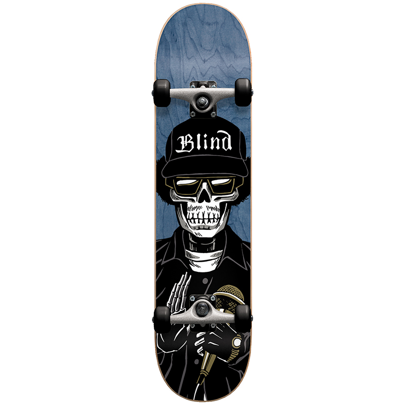 Blind Reaper E Premium Youth Complete Skateboard Blue with Stocking 7.0