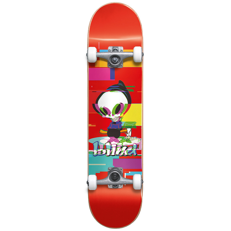 Blind Reaper Glitch First Push Complete Skateboard Red 7.75