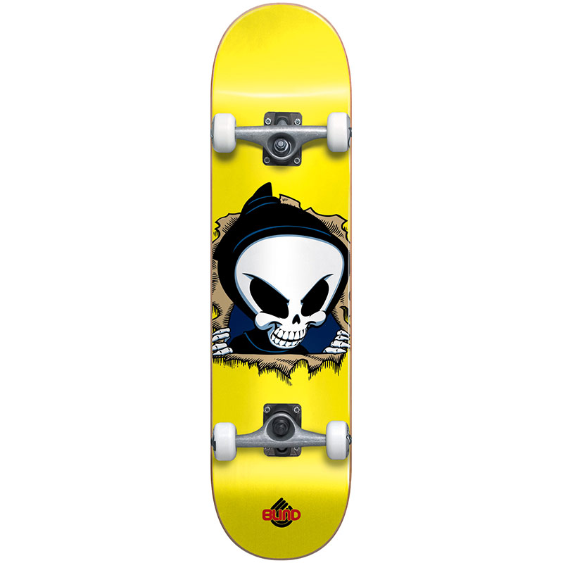 Blind Reaper Ripper Youth First Push Complete Skateboard with Stocking Yellow 7.0