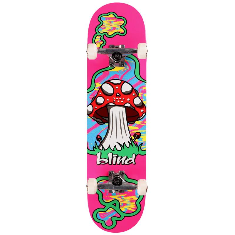 Blind Shroom Land First Push Complete Skateboard Pink 8.125