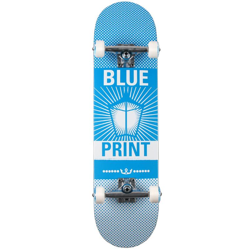 Blueprint Pachinko Complete Skateboard Blue/White 8.0