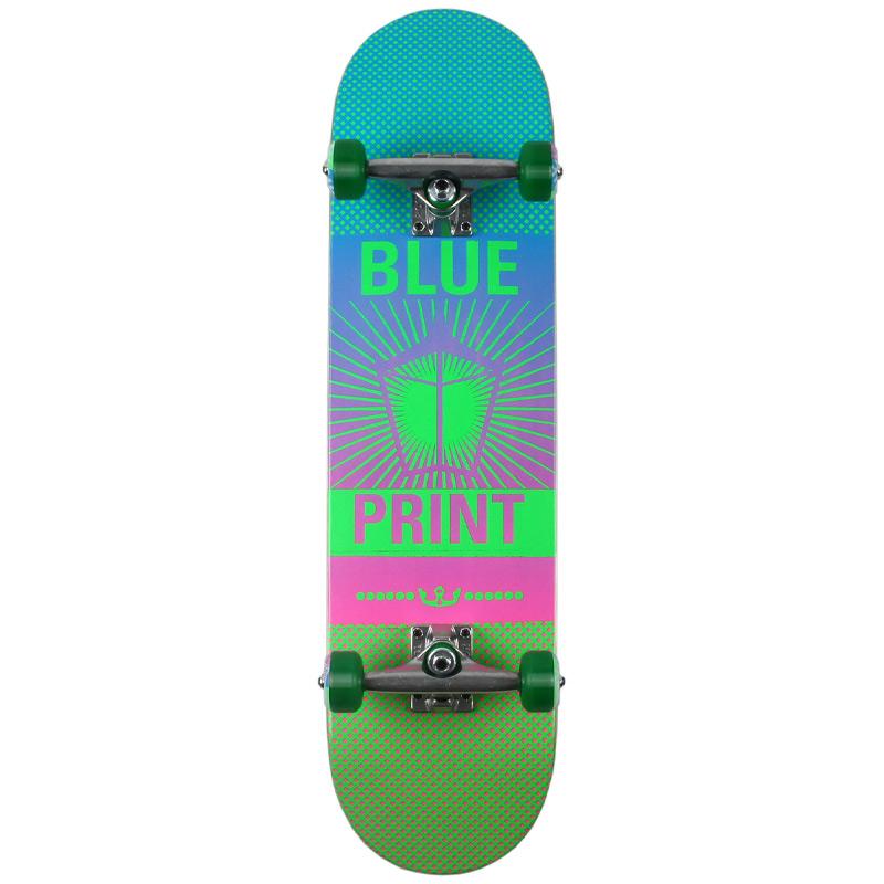Blue Print Pachinko Complete Skateboard Fade Green 8.0