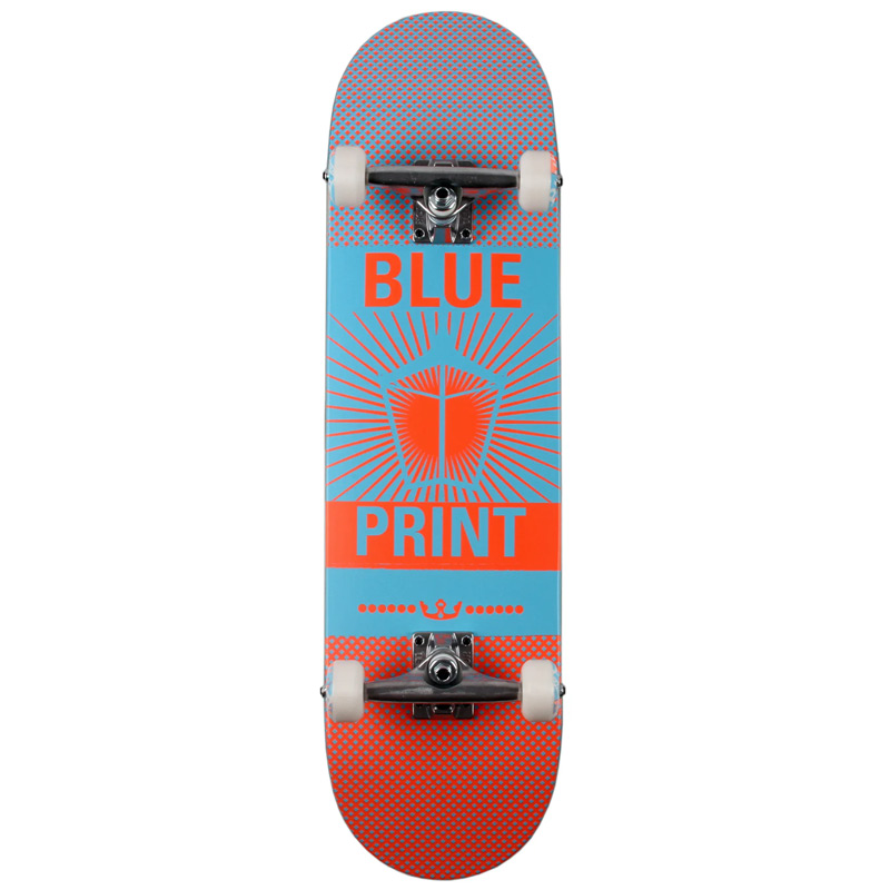 Blue Print Pachinko Complete Skateboard Salmon/Blue 8.25