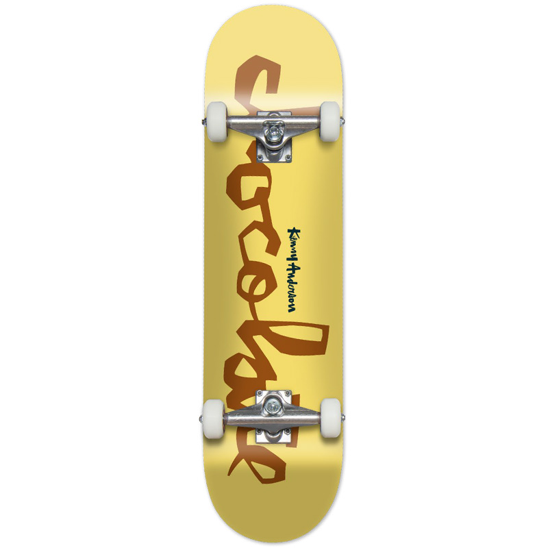Chocolate Kenny Anderson Chunk Complete Skateboard Yellow 7.75