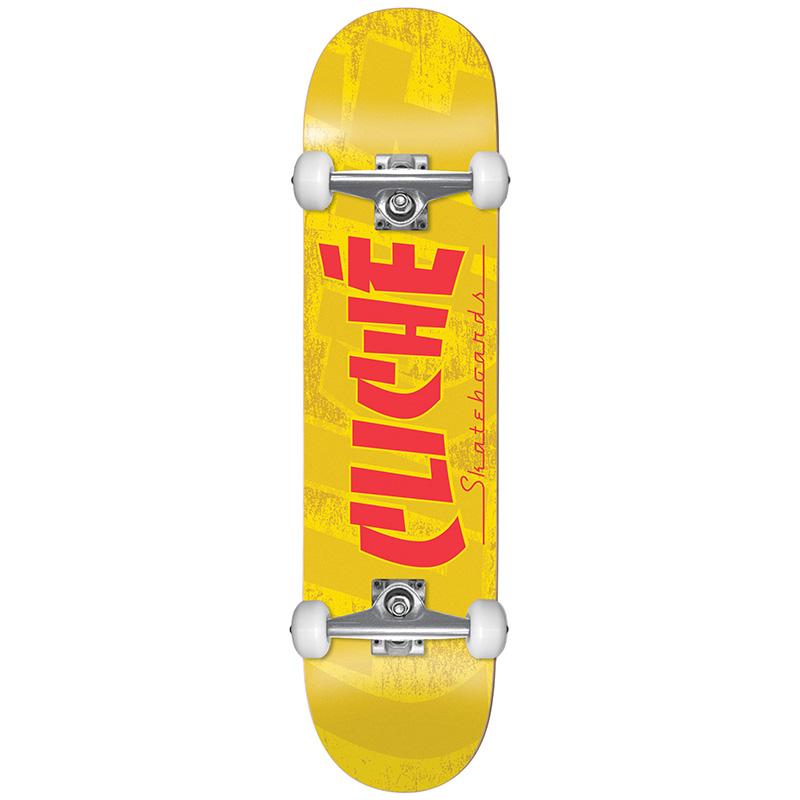 Cliché Banco FP Complete Skateboard Yellow 7.5
