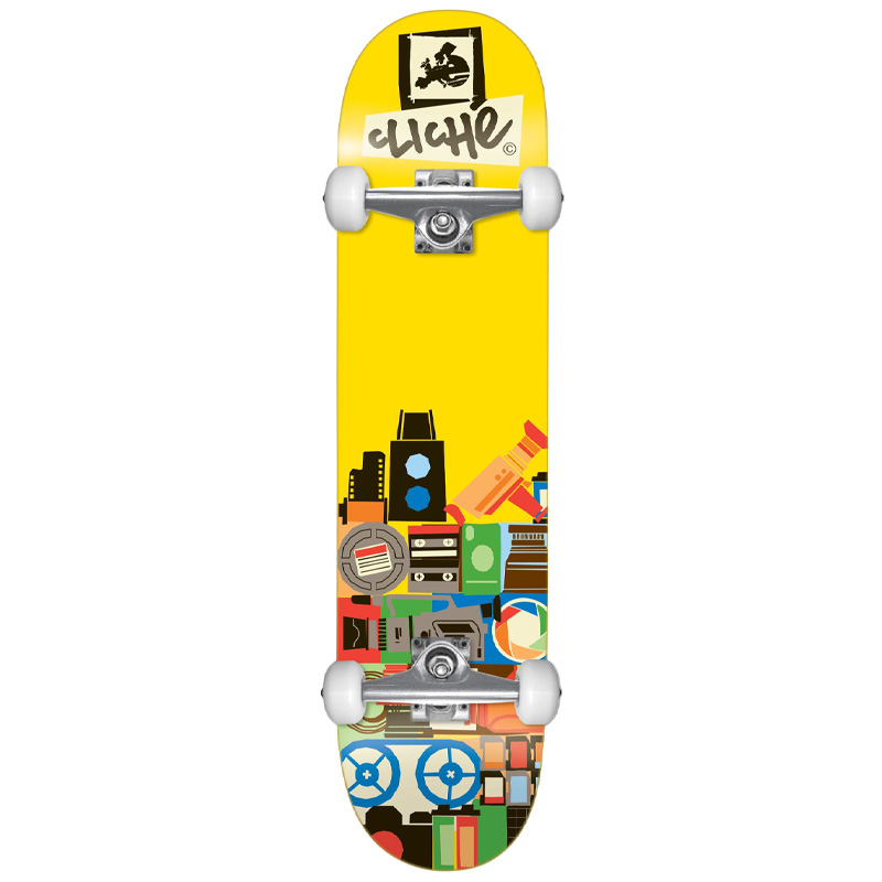 Cliché Document FP Complete Skateboard Yellow 8.0