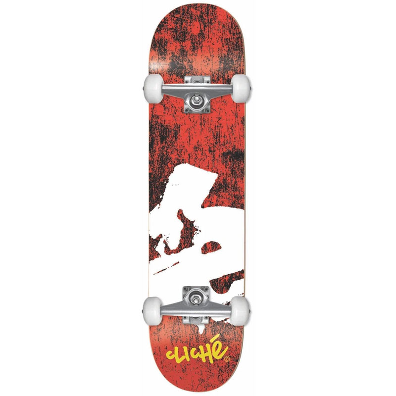 Cliche Europe First Push Complete Skateboard Red 7.75