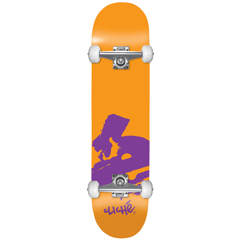 Cliché Europe FP Complete Skateboard Orange 7.875