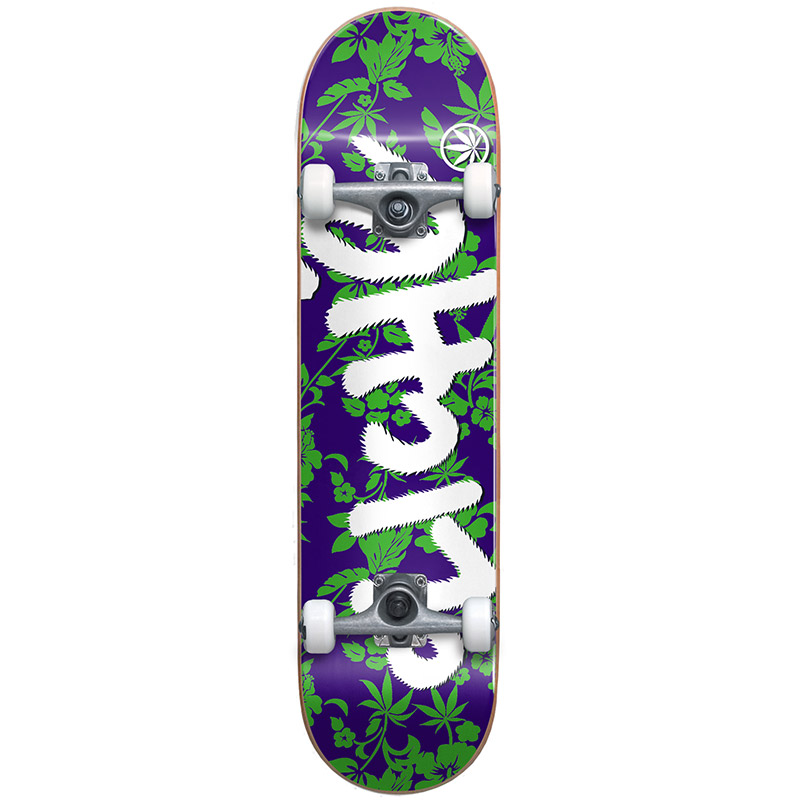 Cliché Floral First Push Complete Skateboard Green 8.125