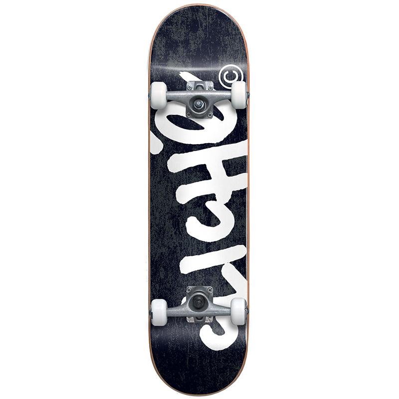 Cliché Handwritten First Push Complete Skateboard Black/White 8.0