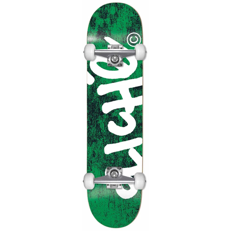 Cliche Handwritten First Push Complete Skateboard Green 8.25