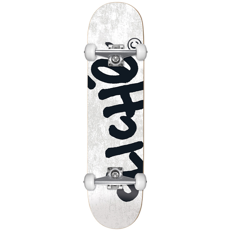 Cliché Handwritten FP Complete Skateboard White 8.25