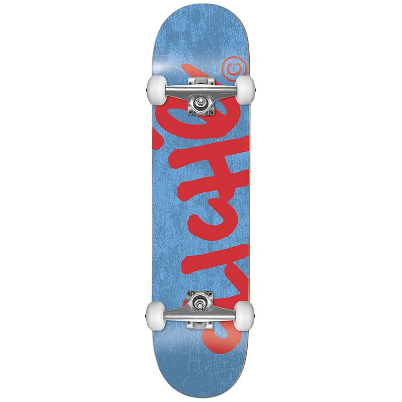 Cliché Handwritten Yth FP Complete Skateboard Blue/Red 7.375
