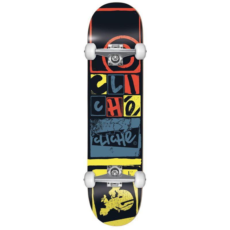 Cliché Letter Press FP Complete Skateboard Black 8.0