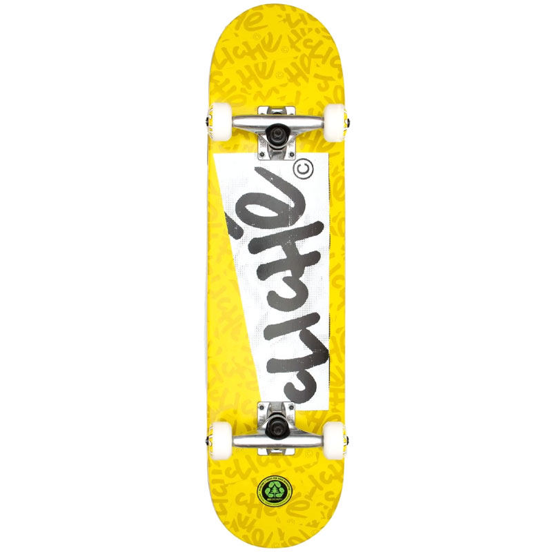 Cliche Paper First Push Complete Skateboard Yellow 7.75