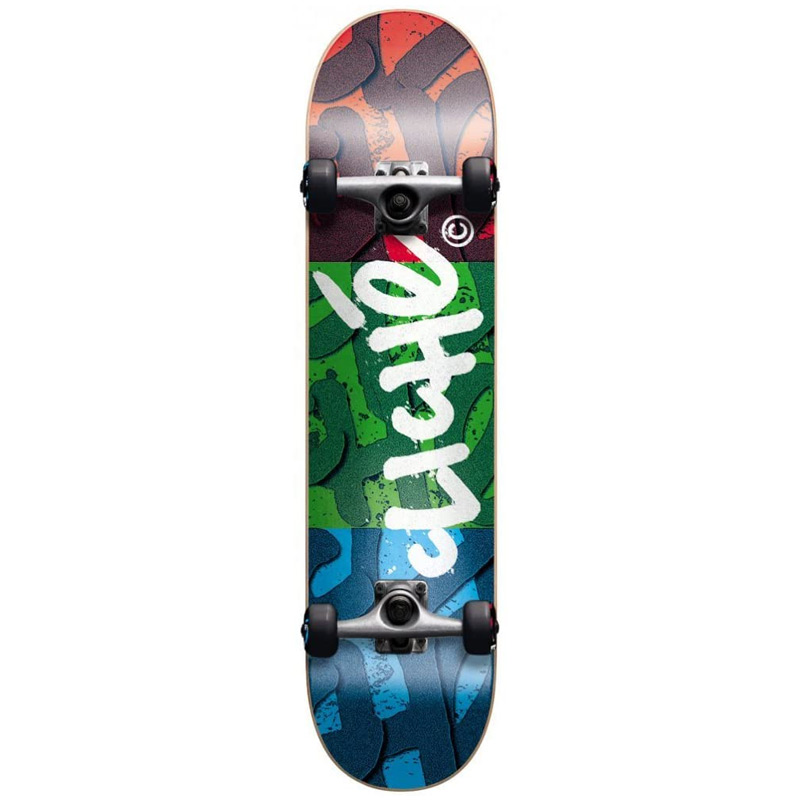 Cliche RGB First Push Complete Skateboard Red/Green/Blue 7.875