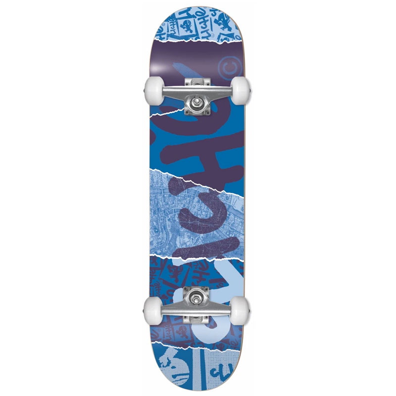 Cliche Ripped First Push Complete Skateboard Blue 8.0