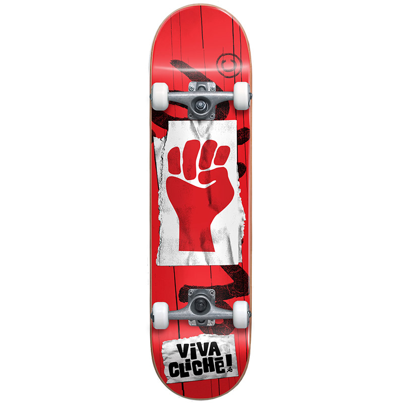 Cliché Viva Cliché First Push Complete Skateboard Red 7.875