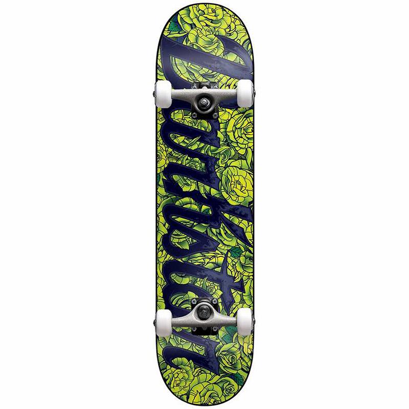 Darkstar Roses First Push Soft Wheels Complete Skateboard Lime Green 7.75