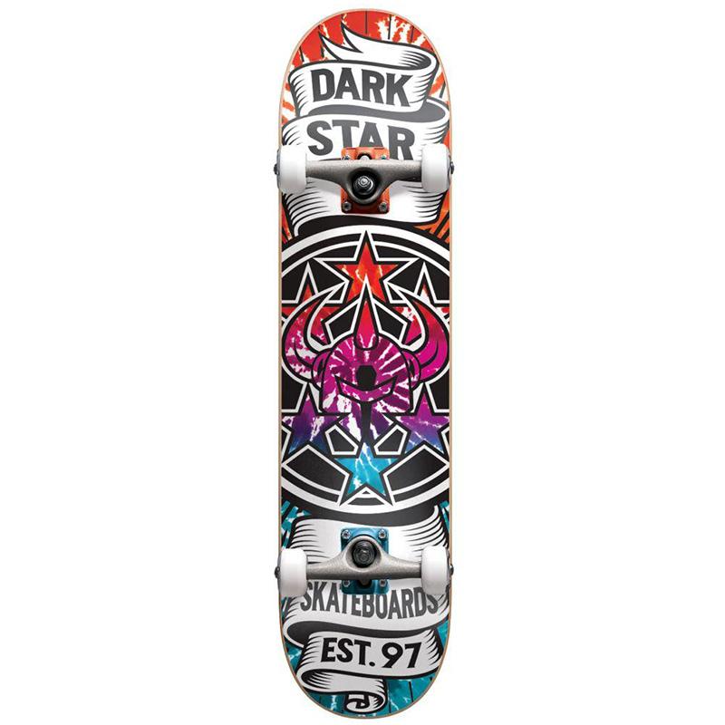 Darkstar Civil Youth FP Soft Wheels Complete Skateboard Magenta 7.0