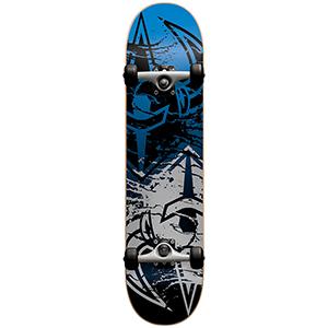 Darkstar Drench Complete Skateboard Silver/Blue 7.625
