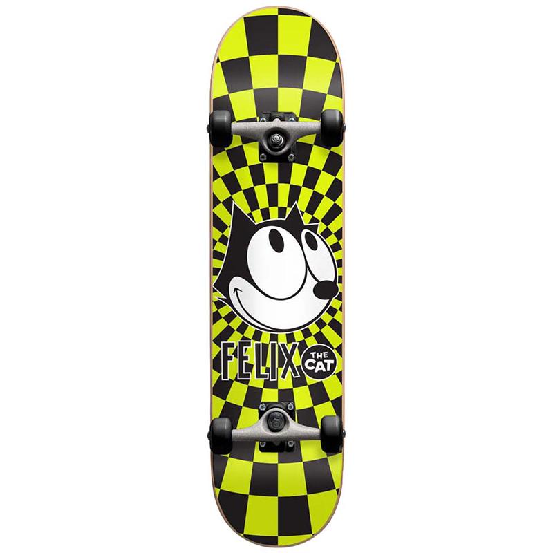 Darkstar Felix Radiate Youth First Push Complete Skateboard Black/Yellow 7.375