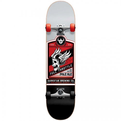 Darkstar Full Throttle Complete Skateboard Red -with soft wheels- 7.625