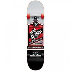 Darkstar Full Throttle Complete Skateboard Red -with soft wheels- 7.625