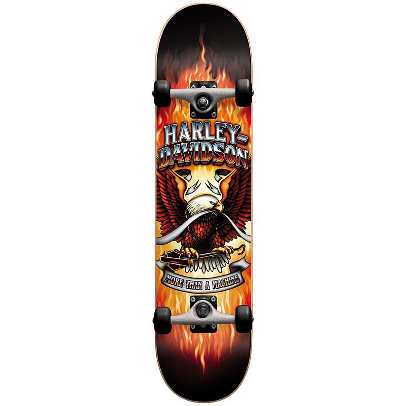 Darkstar Harley-Davidson Brand Complete Skateboard 8.0