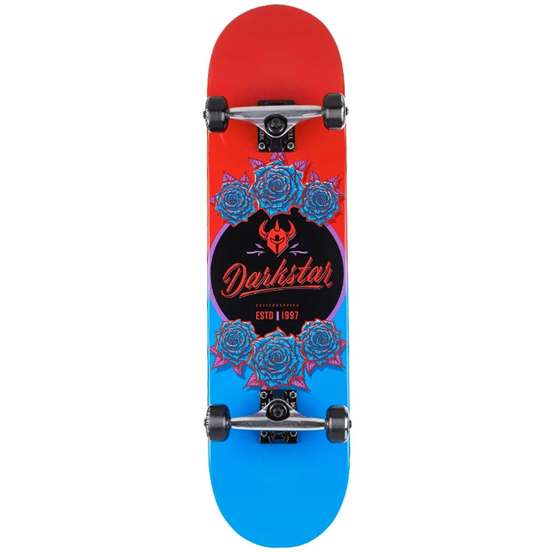 Darkstar In Bloom First Push Complete Skateboard Red/Blue 8.0