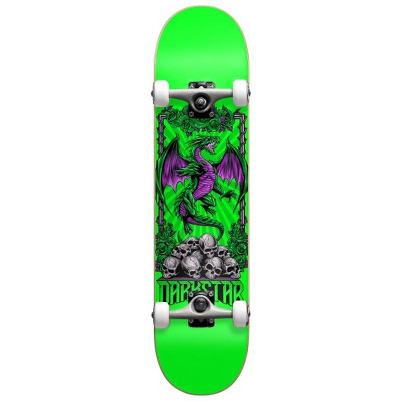 Darkstar Levitate First Push Complete Skateboard Soft Wheels Complete Skateboard Green 8.0