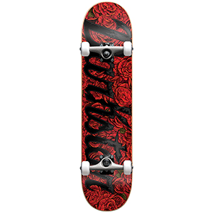Darkstar Roses FP Soft Wheels Complete Skateboard Red 7.75